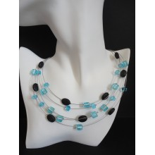 Collier 5 rangs turquoise